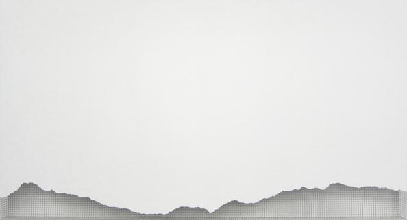 schlegeis 2013, acrylic/ steel mesh, 108 x 201 cm
