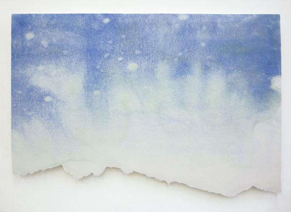 östliche karwendelspitze 2012, watercolour/ paper, 42 x 62 cm