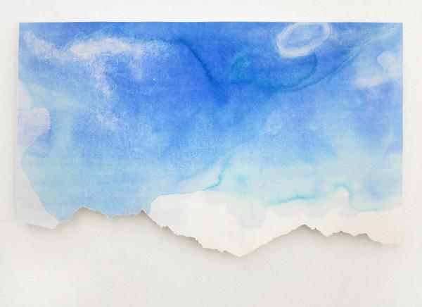 westliche karwendelspitze 2012, watercolour/ paper, 42 x 62 cm