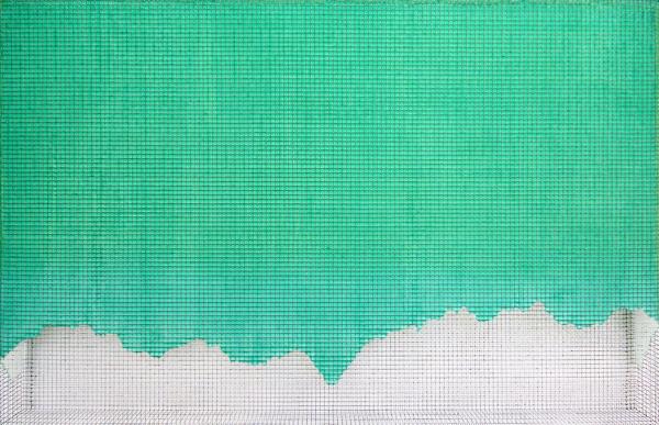wilder kaiser 2010, acrylic/ steel mesh, 61 x 94 cm