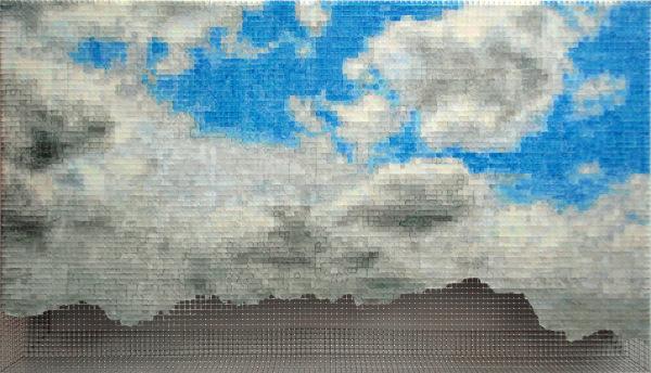 wetterstein4 2010, acrylic/ steel mesh, 46 x 80 cm